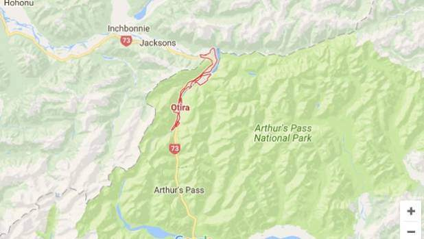 The helicopter came down in bush about 30 kilometres northeast of Otira near Arthur's Pass.