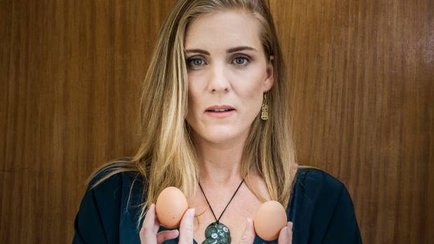 Actor Aidee Walker is the face of a new Safe ad against Countdown, urging them to stop stocking all caged eggs.