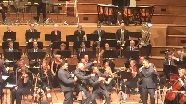 The Modern Maori Quartet performs with the New Zealand Symphony Orchestra NZSO.