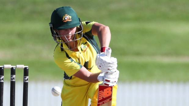 Australian captain Meg Lanning in action against New Zealand in the women's ODI cricket match at Bay Oval, Mount ...
