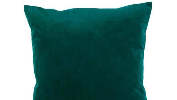 Velvet cushion cover in Emerald $39.95 from Harvey Furnishings, harveyfurnishings.co.nz.
