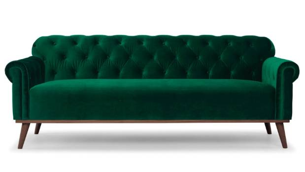 Chesterfield Deep Green sofa $2295 from Me and My Trend, meandmytrend.com.
