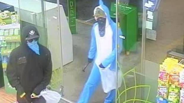 The two men entered the BP service station in Rolleston about 2.20am on Monday.