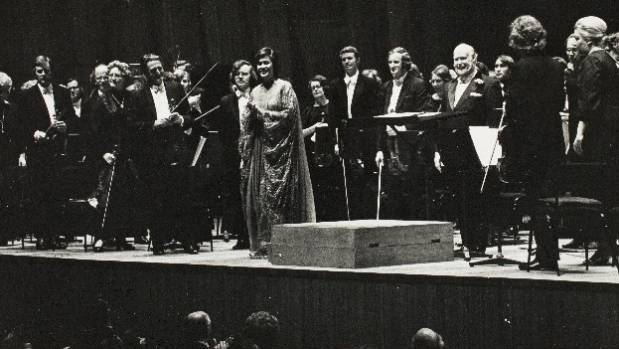 Dame Kiri Te Kanawa performed with the NZSO at the Sydney Opera House in 1974.
