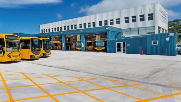 The NZ Bus depot on Hutt Road is for sale.