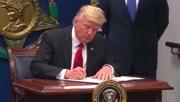 President Trump removed Iraq from the list of nations targeted in his revised US travel ban.