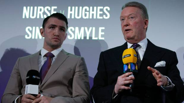 Hughie Fury and his British promoter Frank Warren.