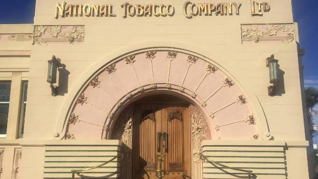 The National Tobacco Company building is one of the best examples of Art Deco architecture in Napier.