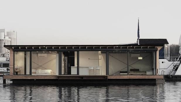 Modern houseboat epitomises simple living in a tiny house for Minimalist house boat