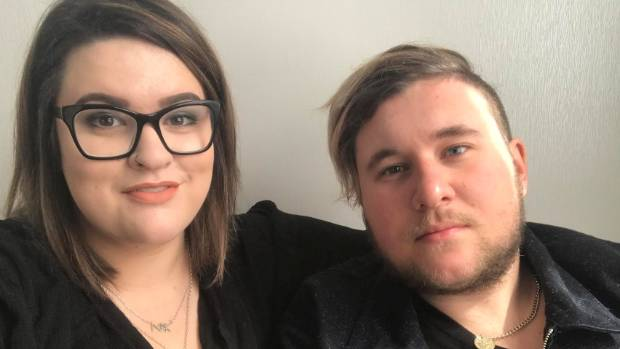 Cameron Morgan, 21, was treated at Waikato Hospital after contracting shingles and meningitis. He and his partner, Sarah ...