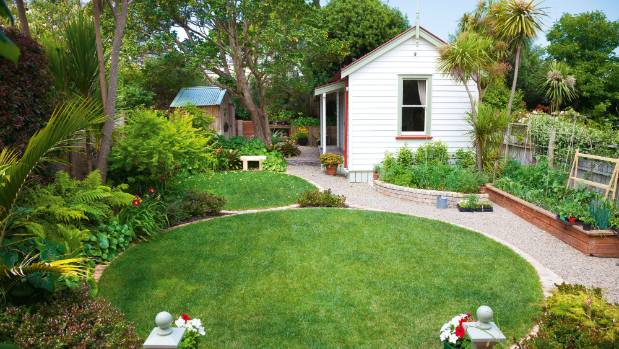 Thinking outside the square, landscape designer Jo Hamilton pleasantly surprised Ponsonby villa owners Cindy Beaudin and ...