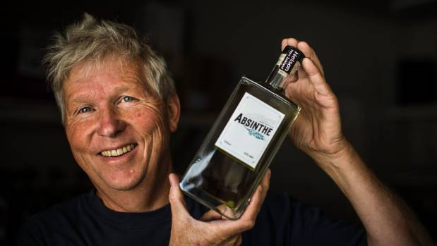 Jurgen Voigtlander's absinthe contains a blend of locally-grown wormwood, fennel, anise, lemon balm, lavender, citrus, ...