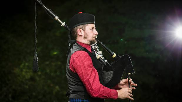 Stoke Celtic Pipe Band Musical Director Callum Gilchrist plays at the Botanics, Nelson, ahead of this weekend's Pipe ...