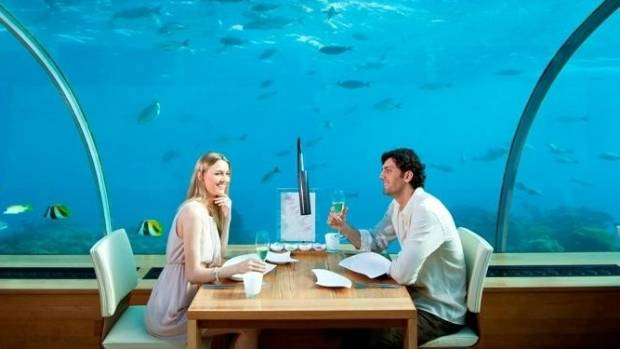 Dine in the world's first underwater restaurant - Ithaa.