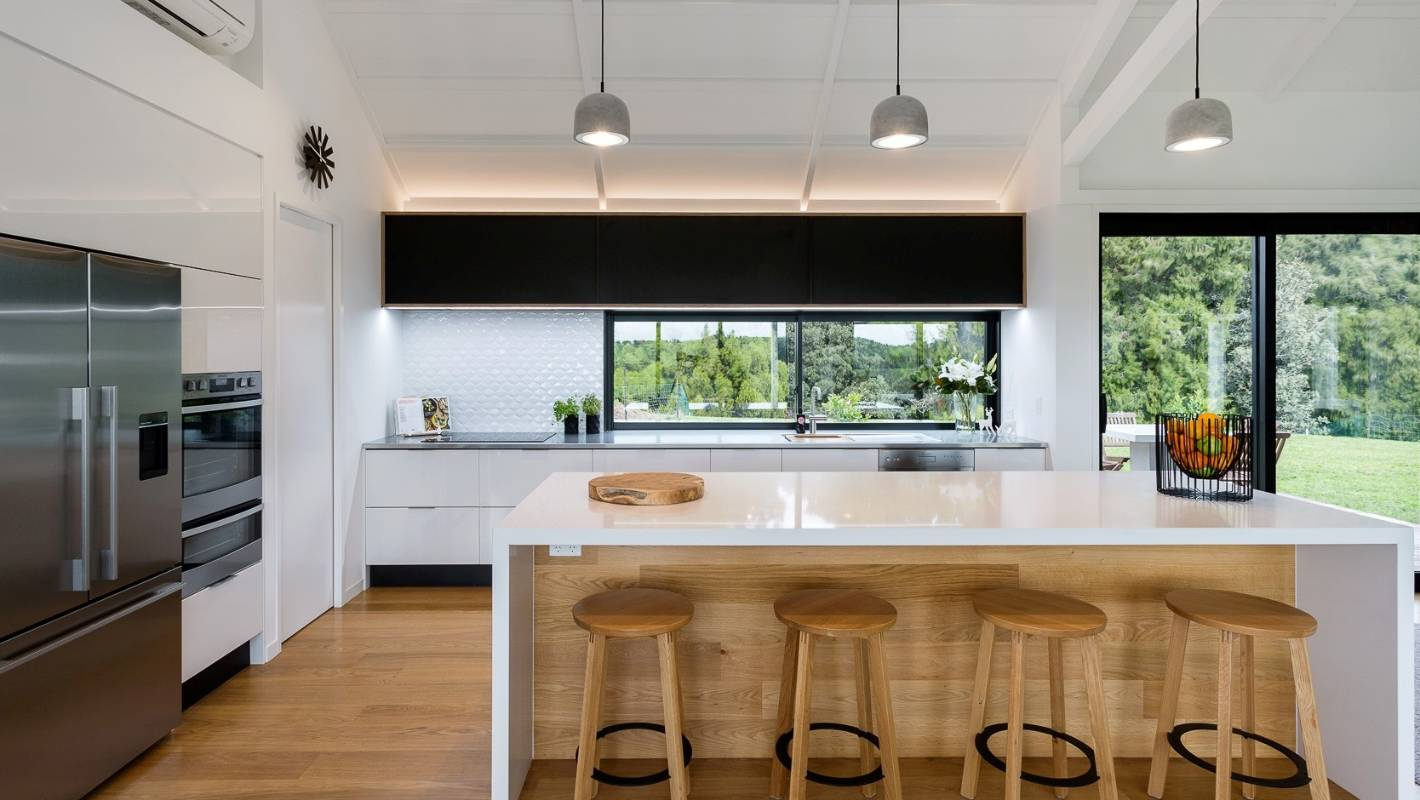 How To Make A Kitchen Work And Look Great In A Vast Barn Style Living Space Stuff Co Nz