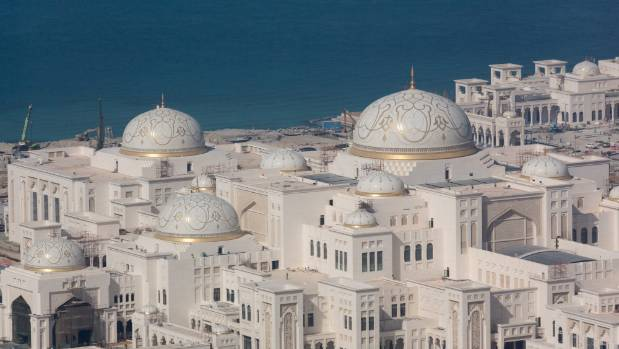 The enormous new Presidential Palace in Abu Dhabi, the capital of the UAE.