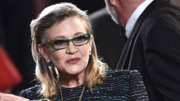 Carrie Fisher at the 69th annual Cannes Film Festival at the Palais des Festivals on last year.
