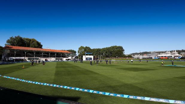 Play at University Oval in Dunedin has been delayed after a fire alarm.