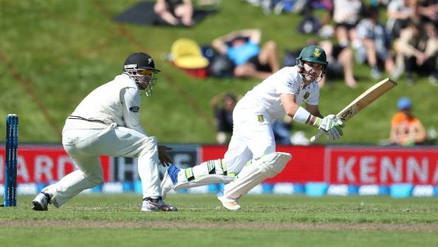 After being dropped on 36, South Africa opener Dean Elgar punished New Zealand with an impressive fighting knock.