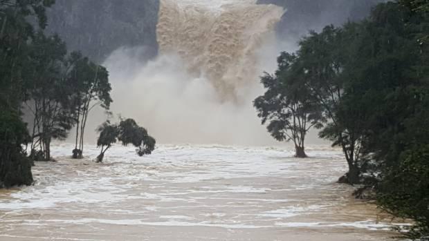 The Hunua area saw the highest amounts of rain fall over the Tasman Tempest.