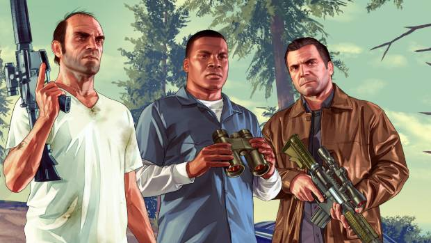 Grand Theft Auto 5, where players commit ever more audacious and violent crimes, currently tops a list of bestselling games.
