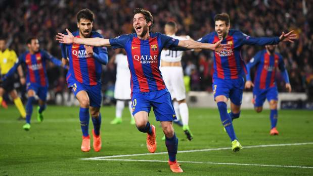 Barcelona face punishment from UEFA over their celebrations after PSG win