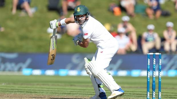 Dean Elgar survived some anxious early moments for his highest test score of 140 before Neil Wagner removed him