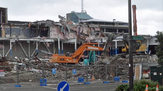 Demolition of the damaged section of the mall was completed in March.