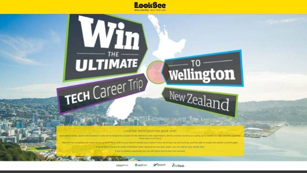 LookSee Wellington website went down on Thursdat.