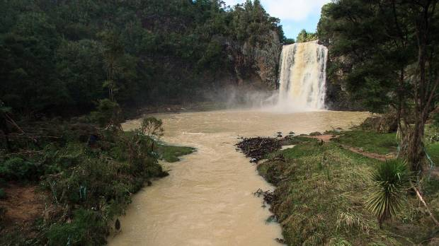 The Hunua Falls, in rural south Auckland, were in high flow after heavy rain on March 8.