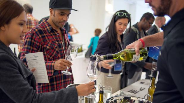 New Yorkers try a taste of New Zealand wine at a recent fair.