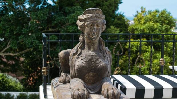 The sphinx was bought some time ago at an interior design store in Auckland.