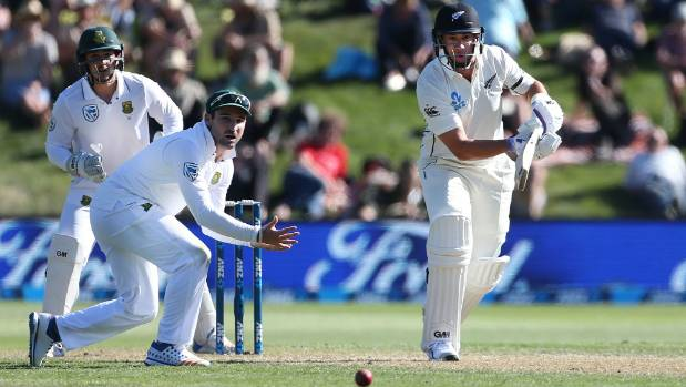 An injury to Ross Taylor forced him to retire hurt on eight.