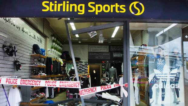 Thieves, including a 14 year old, ram raid sports store