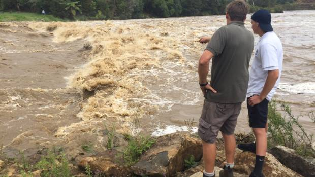 The Kerikeri River was raging after torrential rain on Thursday evening.