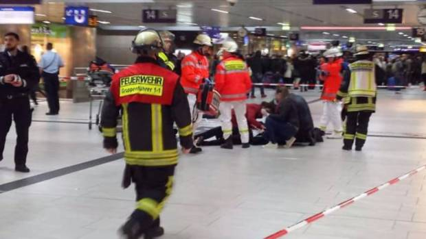 Axe attack in Dusseldorf Station