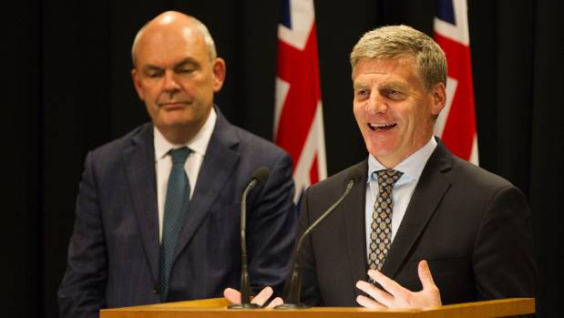 Steven Joyce and Prime Minister Bill English announce plans to lift the retirement age to 67.