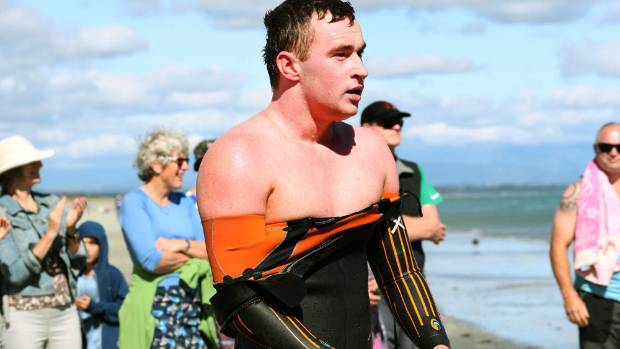 Luke Kelly, pictured at an earlier swim, won Thursday's final seaswim.