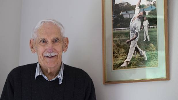 New Zealand's oldest living first-class cricketer, Tom Pritchard, who is 100,  has shared his story with Hollis.