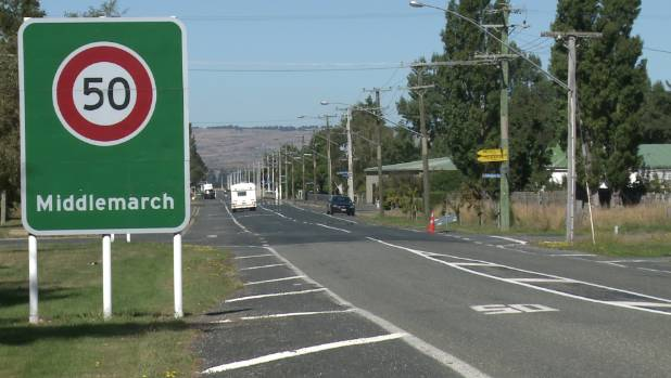 Entering the Otago town of Middlemarch. home to a poison pen letter writer.