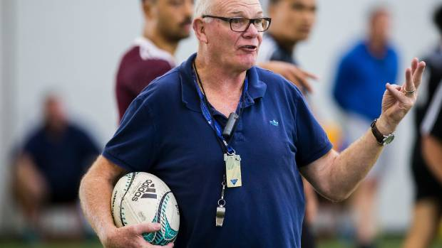 All Blacks assistant coach Mike Cron during the New Zealand Under 20s development camp.