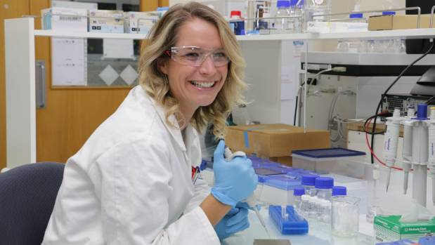 """Hannah McKerchar: """"I'm looking into crosslinks formed when milk is processed and how we locate them, and identify them."""""""