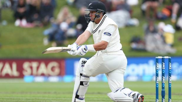 Despite a torn right calf Ross Taylor managed to hit out for his country.