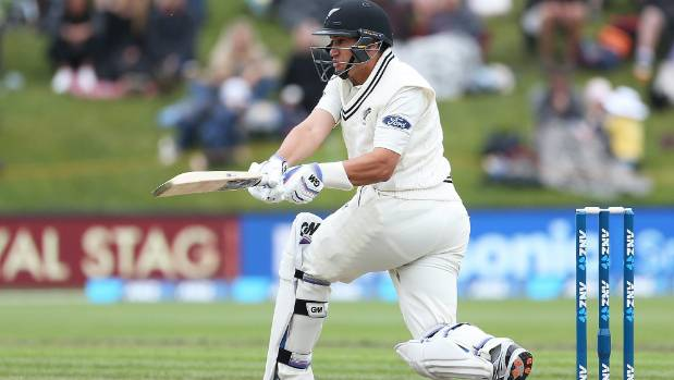 Ross Taylor swung hard after suffering a torn calf in Dunedin, and will be assessed this week with a view to returning ...