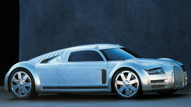 Audi was never really serious about retro Rosemeyer concept. So they gave its W16 engine to Bugatti.