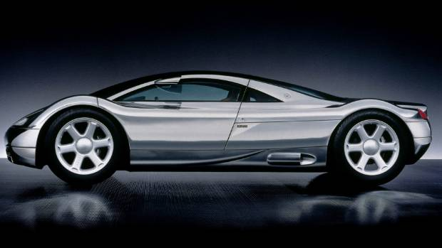Avus concept had a W12 engine that didn't exist in 1991. Which is why it was a concept.