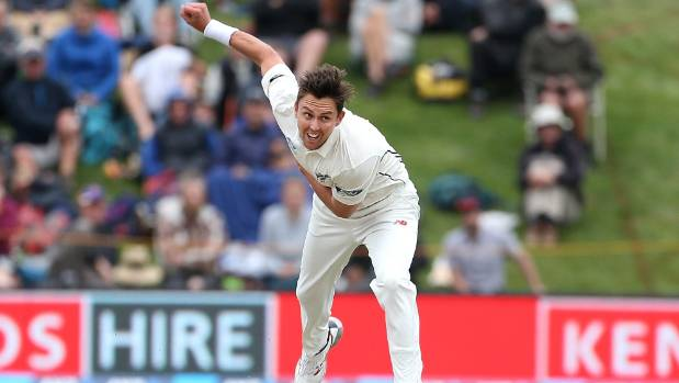 Trent Boult suffered a left hip or pelvis injury during the first test but coach Mike Hesson denies it was a workload issue.