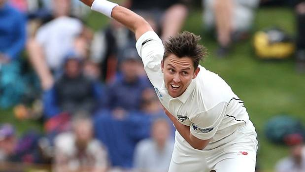 A left leg injury has ruled Trent Boult out of the second test against South Africa in Wellington.