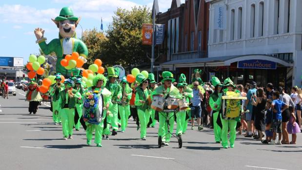 Ponsonby Rd was set to turn green on March 12 for the annual St Patrick's Day parade.