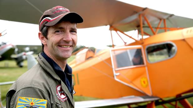 Pilot Lachlan Falconer at the Mandeville FIy In.